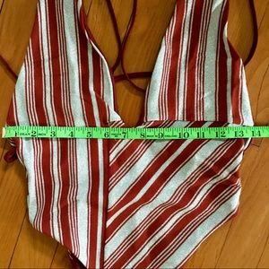 Lovers + Friends Swim - Lovers + Friends 'Cali' One-Piece Crimson Stripe